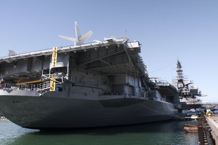 Aircraft Carrier in San Diego in Southern California USA