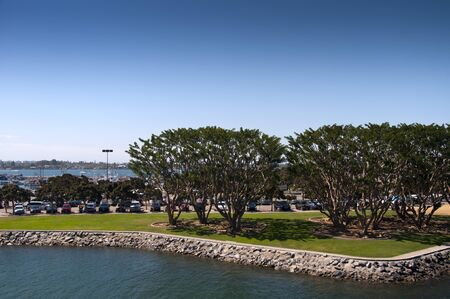 Shore line gardens in San Diego in Southern California USA photo