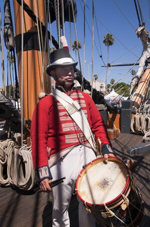 British Marine Drummer Re-enactor in San Diego California photo
