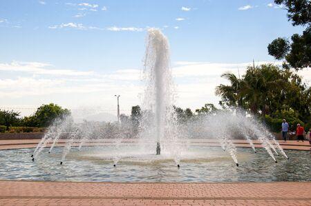 cid: Fountains in Balboa Park in San Diego California USA
