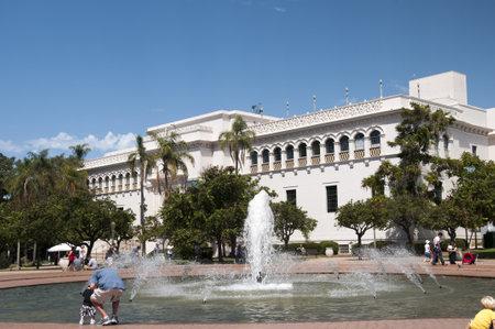 balboa: Fountains in Balboa Park in San Diego California USA