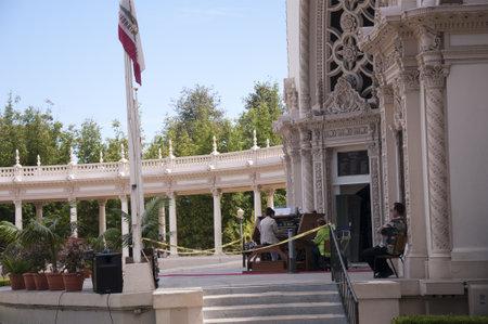 cid: Gigantic Pipe Organ in Balboa Park San Diego California USA Editorial