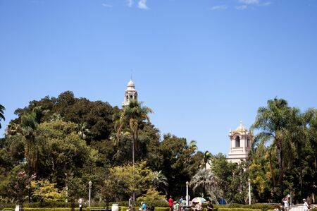spanish style: Spanish Style Buildings in Balboa Park in San Diego California USA