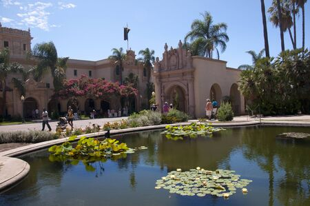 Lily Ponds in Balboa Park in San Diego California USA