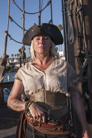 Lady Pirate on Pirate Ship in San Diego California USA photo