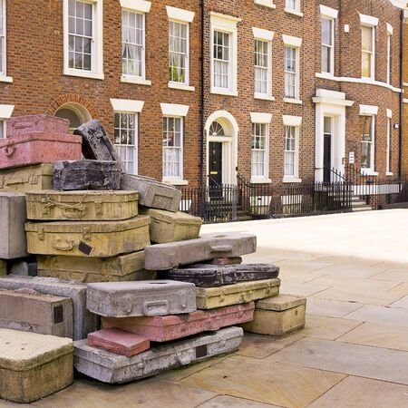 Sculpture called Case Study in the street in Liverpool England Stock Photo - 15664721