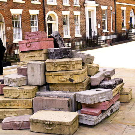 Sculpture called Case Study in the street in Liverpool England Stock Photo - 15664937