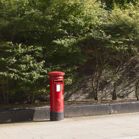 Typical English Postbox in Liverpool Street England Stock Photo - 15664901
