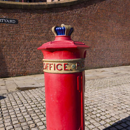 Post Box on the Albert Dock in Liverpool England Stock Photo - 15666281