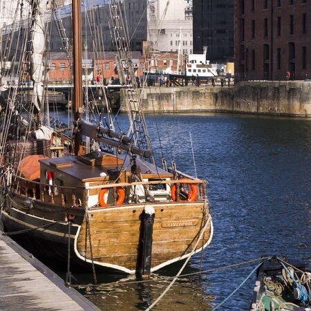 The Albert Dock in the City of Liverpool England Stock Photo - 15666257