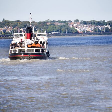 mersey: Ferry Cross the Mersey in Liverpool England Stock Photo