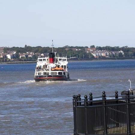 mersey: Ferry Cross the Mersey Liverpool England Stock Photo