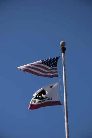 replica: flags of California USA Stock Photo