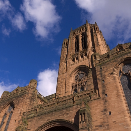 Liverpool Anglican Cathedral in the City of Liverpool England