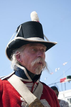 reenactor: Marina brit�nico Intendente Re-enactor en San Diego California