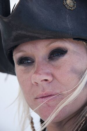 Lady Pirate  Re-enactor on Pirate Ship in San Diego California USA photo