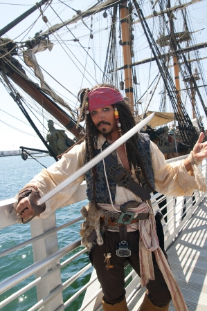 Pirate re-enactor in San Diego Festival of Sail California USA