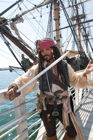 Pirate re-enactor in San Diego Festival van Sail California USA Stockfoto