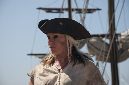 uploaded: Lady Pirate  Re-enactor on Pirate Ship in San Diego California USA  model Release uploaded