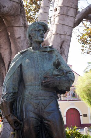 Statue at Olvera Street Los Angeles California USA photo