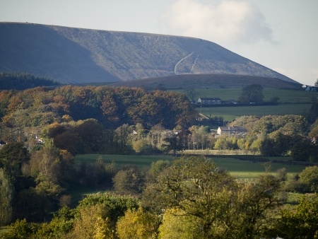Pendle Hill from Burnley Lancashire England Stock Photo - 15909056