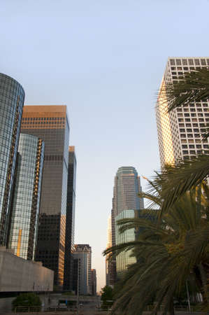 Skyscrapers in Los Angeles California USA photo