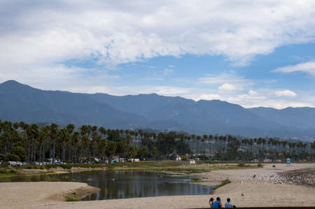 Beach at Santa Barbara California USA Stock Photo
