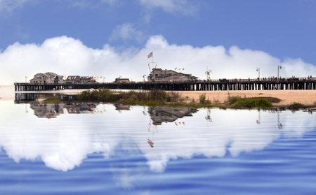 santa barbara: Pier at Santa Barbara California USA