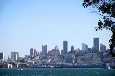 View of San Francisco from Alcatraz Prison California USA