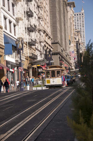 Cable Car in San Francisco California USA