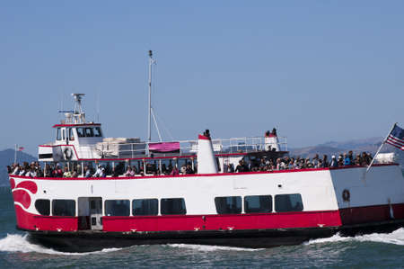 Ferry across San Francisco Bay California USA