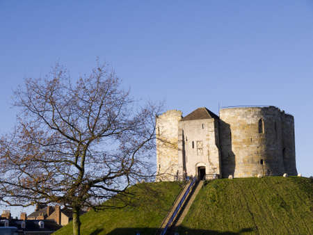 Clifford s Tower in Castle District of York England