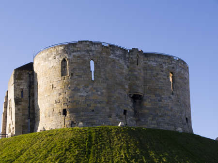 castle district: Clifford s Tower in Castle District of York England