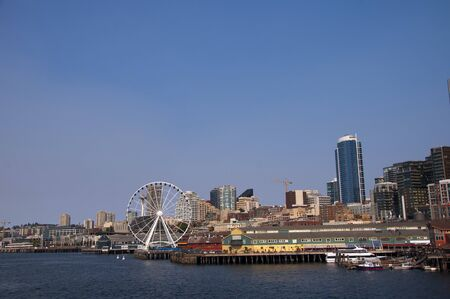 The city skyline of Seattle Washington State USA photo