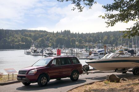 puget: Bainbridge Island across the Puget Sound from Seattle Washington USA Editorial