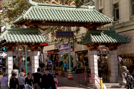 China Town in San Francisco California USA
