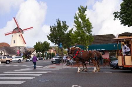 quaint: Danish Town of Solvang California USA Editorial