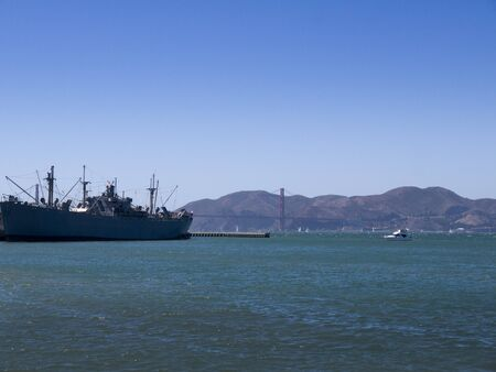 World War 2 Liberty Ship in San Francisco Harbour California photo