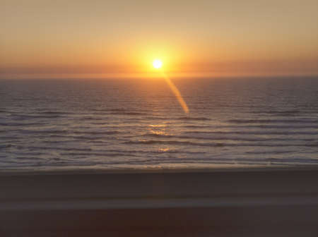Sunset at Coos Bay Oregon USA Stock Photo - 16854478