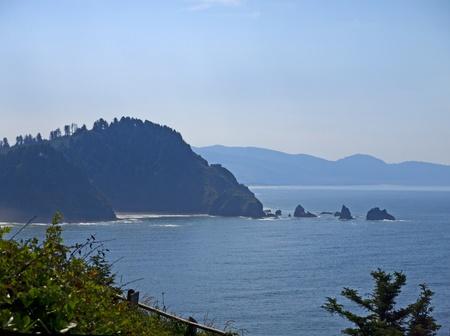 capes: The Oregon Pacific Coast in the USA Stock Photo