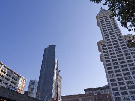 The city skyline of Seattle Washington State USA Stock Photo - 16870377