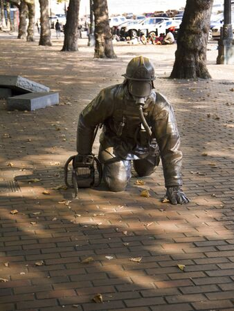 Monument to the Firemen of Seattle Washington USA