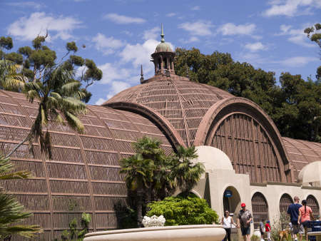 cid: Botanical Garden Building in Balboa Park in San Diego California USA