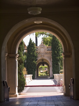 spanish style: Spanish Style Buildings in Balboa Park in San Diego California USA