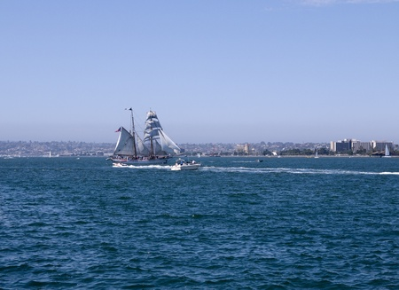 Tall Sailing Ships in Harbour of San Diego California USA photo