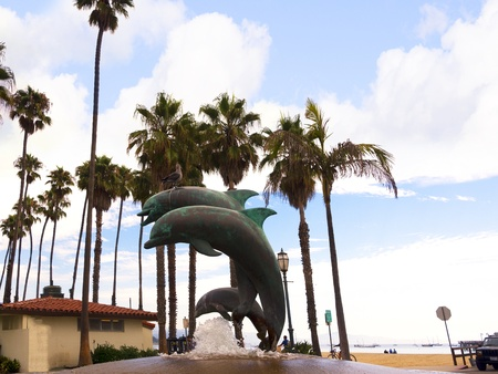 Dolphin Statue near Pier at Santa Barbara California USA