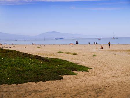 santa barbara: Beach at Santa Barbara California USA