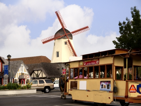 danish: Danish Town of Solvang California USA Editorial