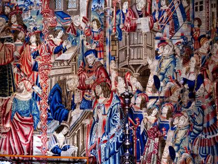 14 世紀のタペストリーのコピー