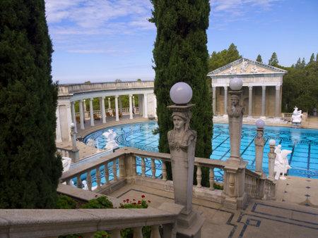 opulent: Swimming Pool with Greek Roman Style in California USA